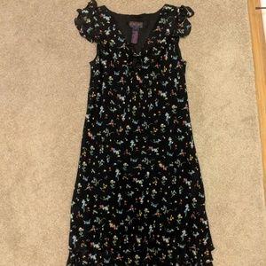 Ralph Ralph Lauren Black Floral Dress -L-